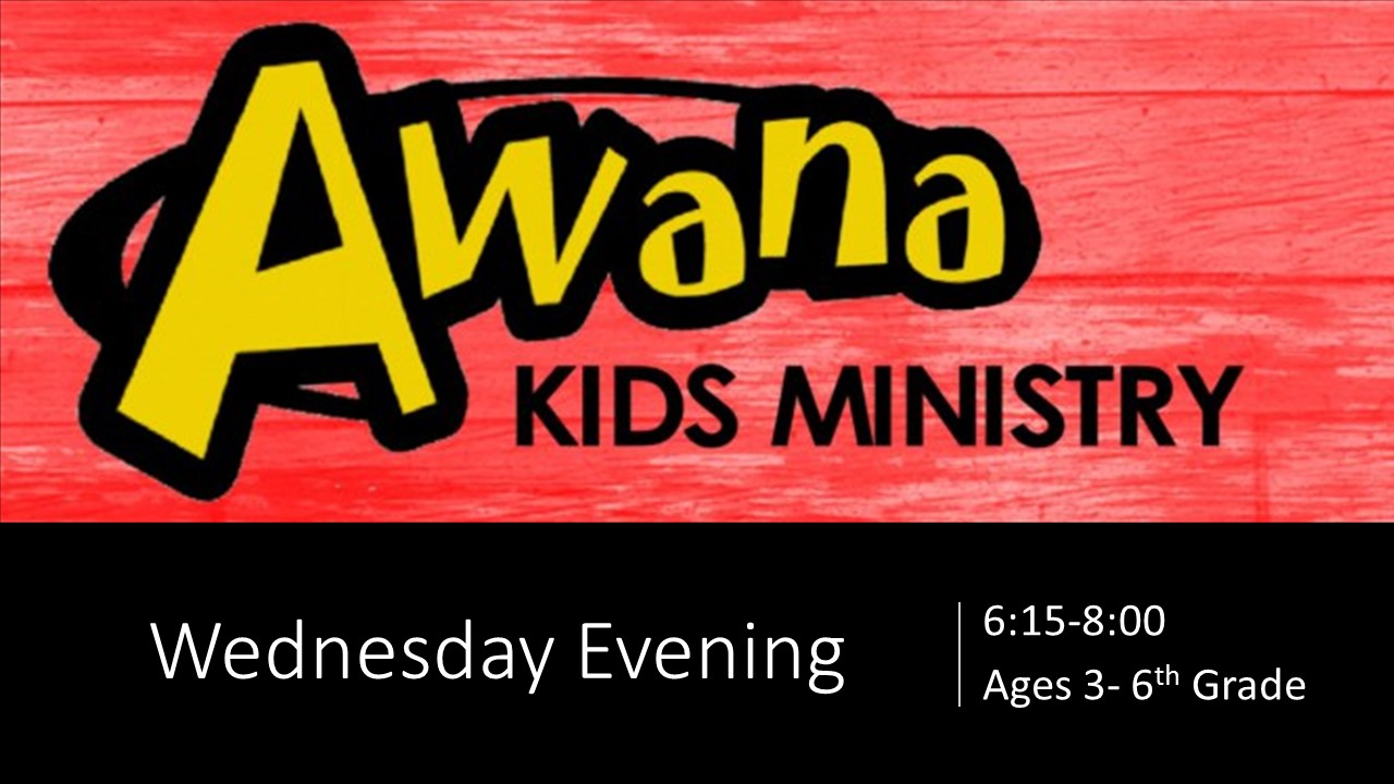 Awana Kids Ministry Wednesday Evening